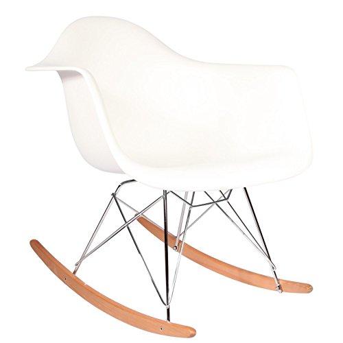 Schaukelstuhl Modern ᐅ eames rar rocker weiß weiß schaukelstuhl kaufen